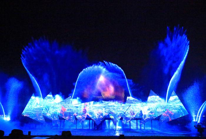 海岛夜景照明设计——圣淘沙之夜景
