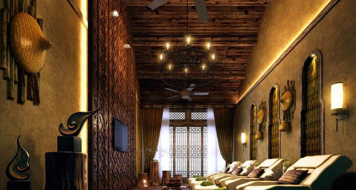 三亚苗族传统酒店灯光设计 - 商业照明设计 - led博客
