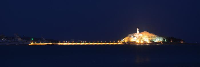 青岛栈桥码头夜景景观照明