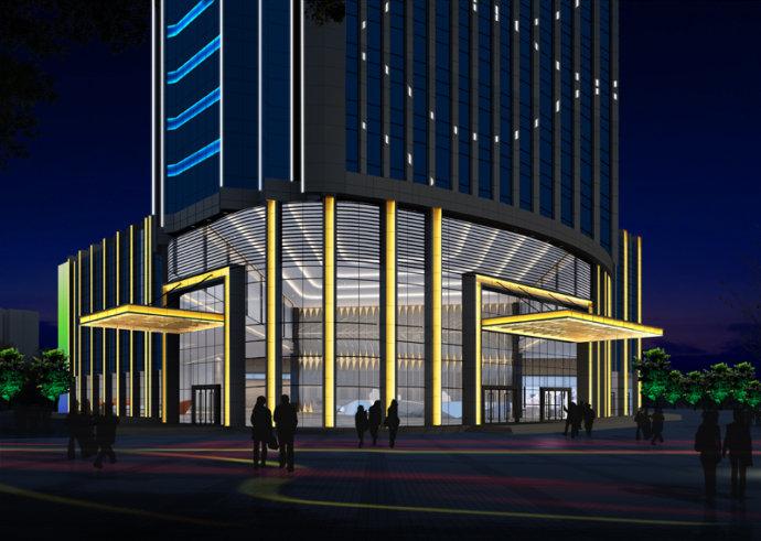 写字楼灯光照明设计,办公楼灯光亮化设计,建筑泛光照明设计,楼体亮化