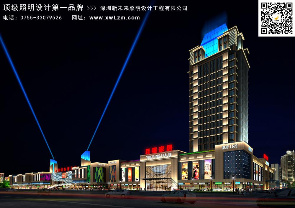 城区夜景照明建设工程设计原则和要求