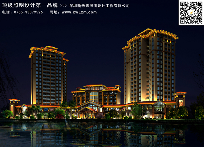 高层住宅楼体亮化设计 - led夜景亮化,夜景照明工程