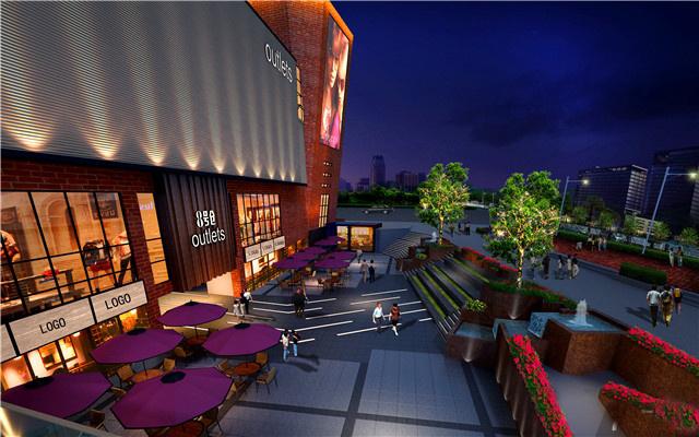 3,商業廣場景觀燈光設計,通過燈光氛圍營造商業廣場的休閑,自由
