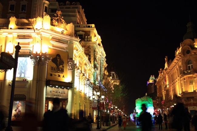 哈尔滨中央大街商业步行街led夜景亮化照明工程