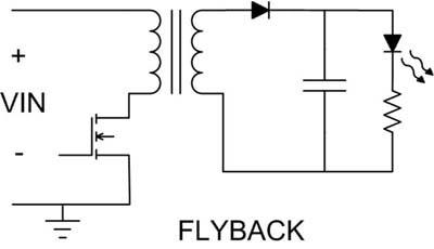 图4反激式转换器可提供隔离和功率因数校正功能