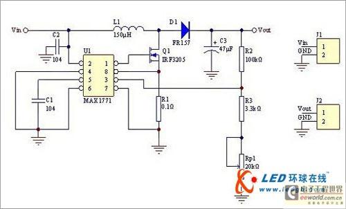 可以做为升压电路使用,电路结构为boost电路,如下图2.