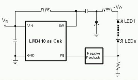 带有串联DIM开关的Boost调节器