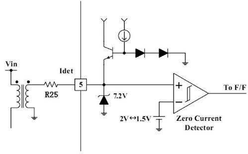 零电流检测端外围电路