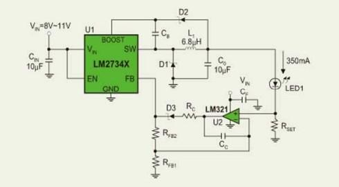 大功率led恒流驱动电路的设计实例[附图]