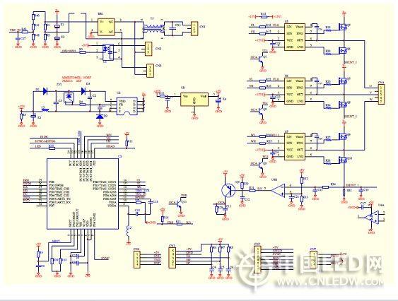 驱动控制器就是单片机可以是8位或是32位单片机.   4.
