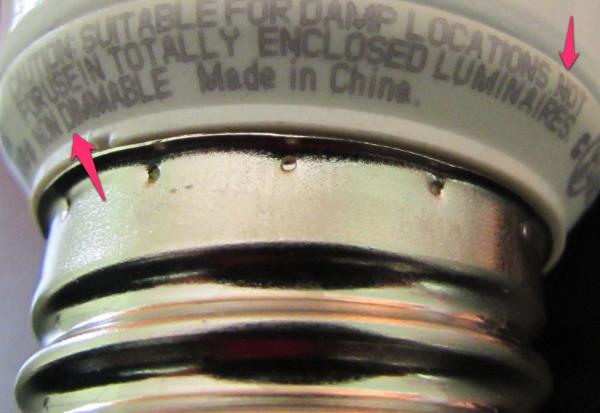 图解沃尔玛60w-led 灯泡内部结构