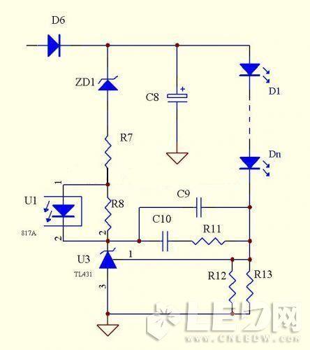 优点:    电路简单,元器件少,成本低,因为tl431的基准电压精度高