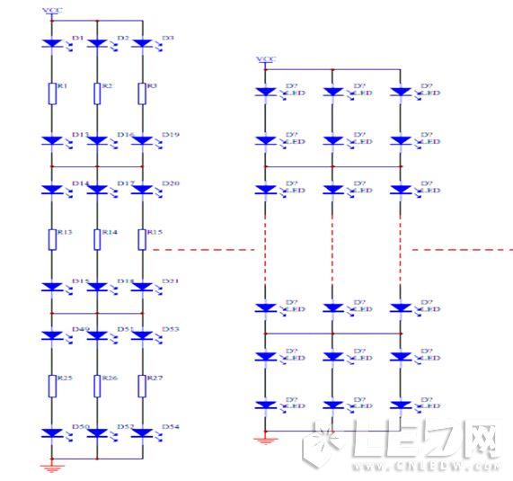led串并联驱动方式设计
