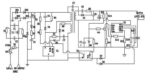 基于tny279的大功率led驱动电源电路设计