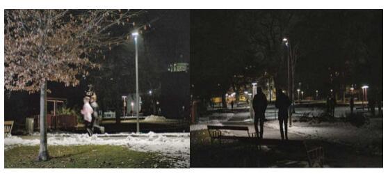 国外公园安装新式灯具,粉碎行动竟然没有了