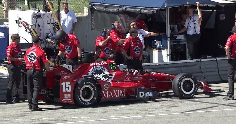 LED屏登陆Indycar赛车身 实现进站读秒
