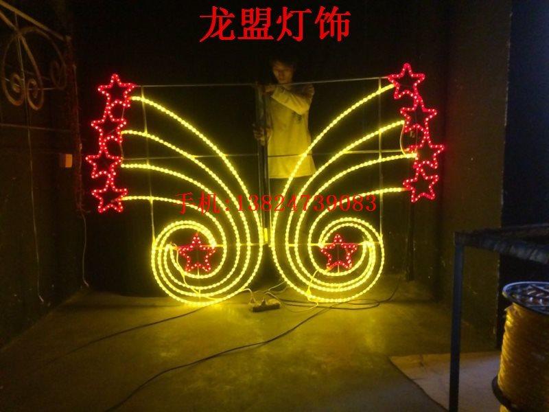 双面灯串灯杆造型灯