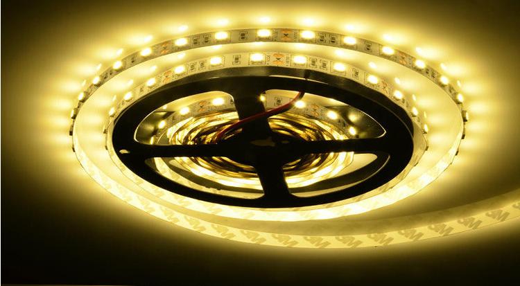 5050-60珠低压防水铜线LED灯带 套管 滴胶 裸板可选
