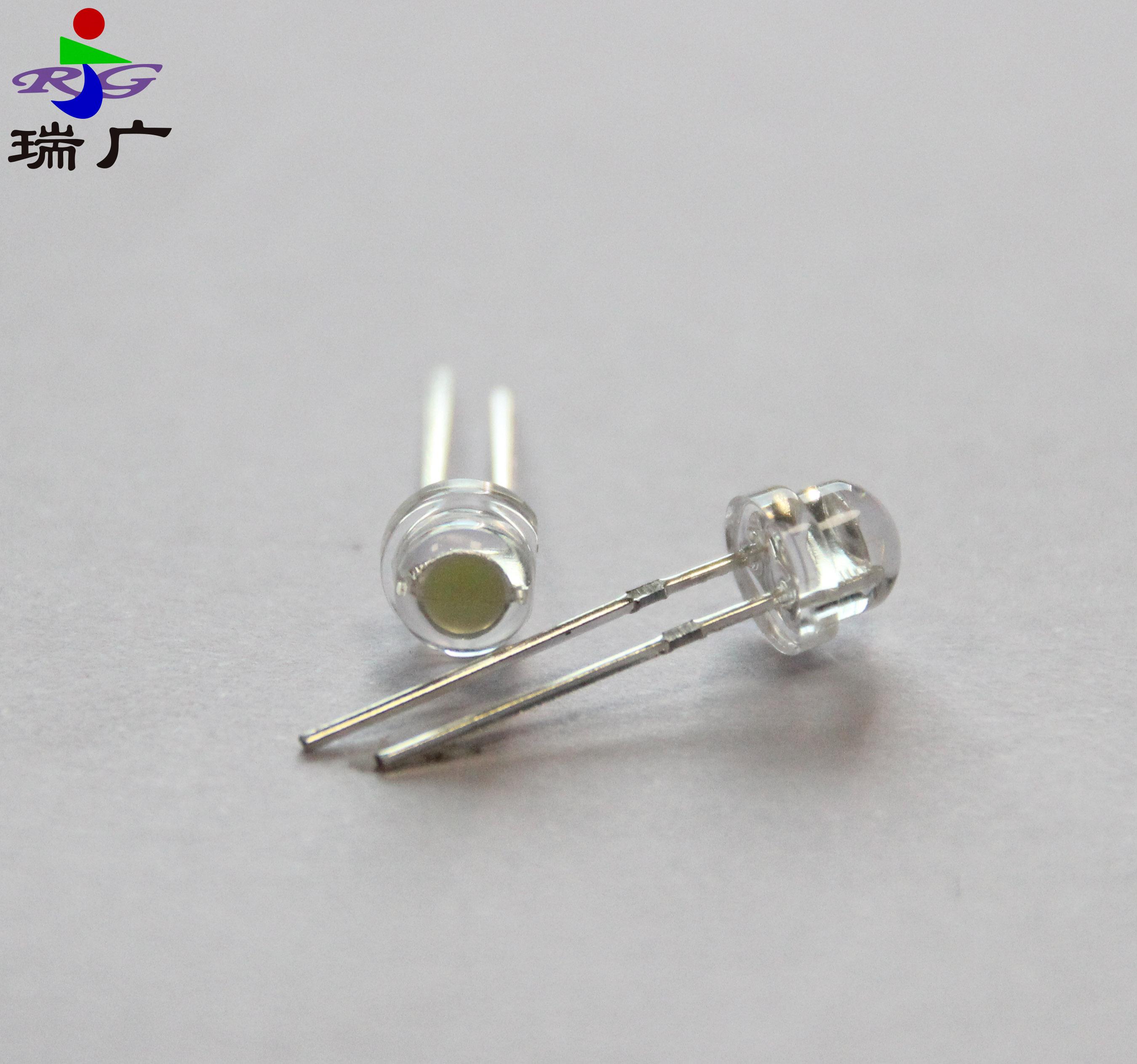 LED发光二极管高亮插脚灯珠0.06W水晶灯