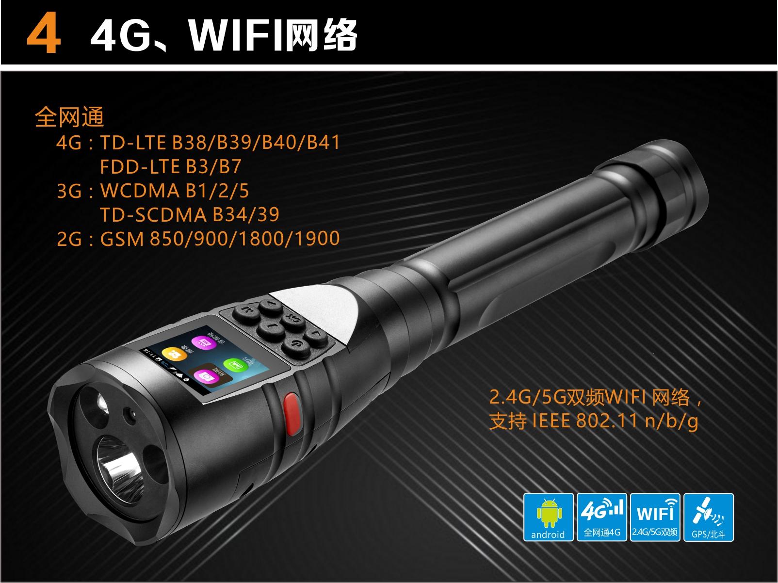 安卓4G智能巡检仪,4G防爆智能摄像手电筒