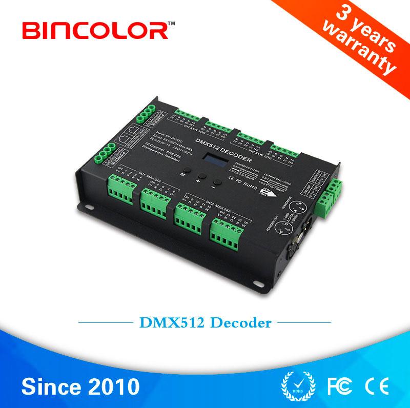 供应珠海缤彩RDM/DMX512恒压32路解码器BC-632