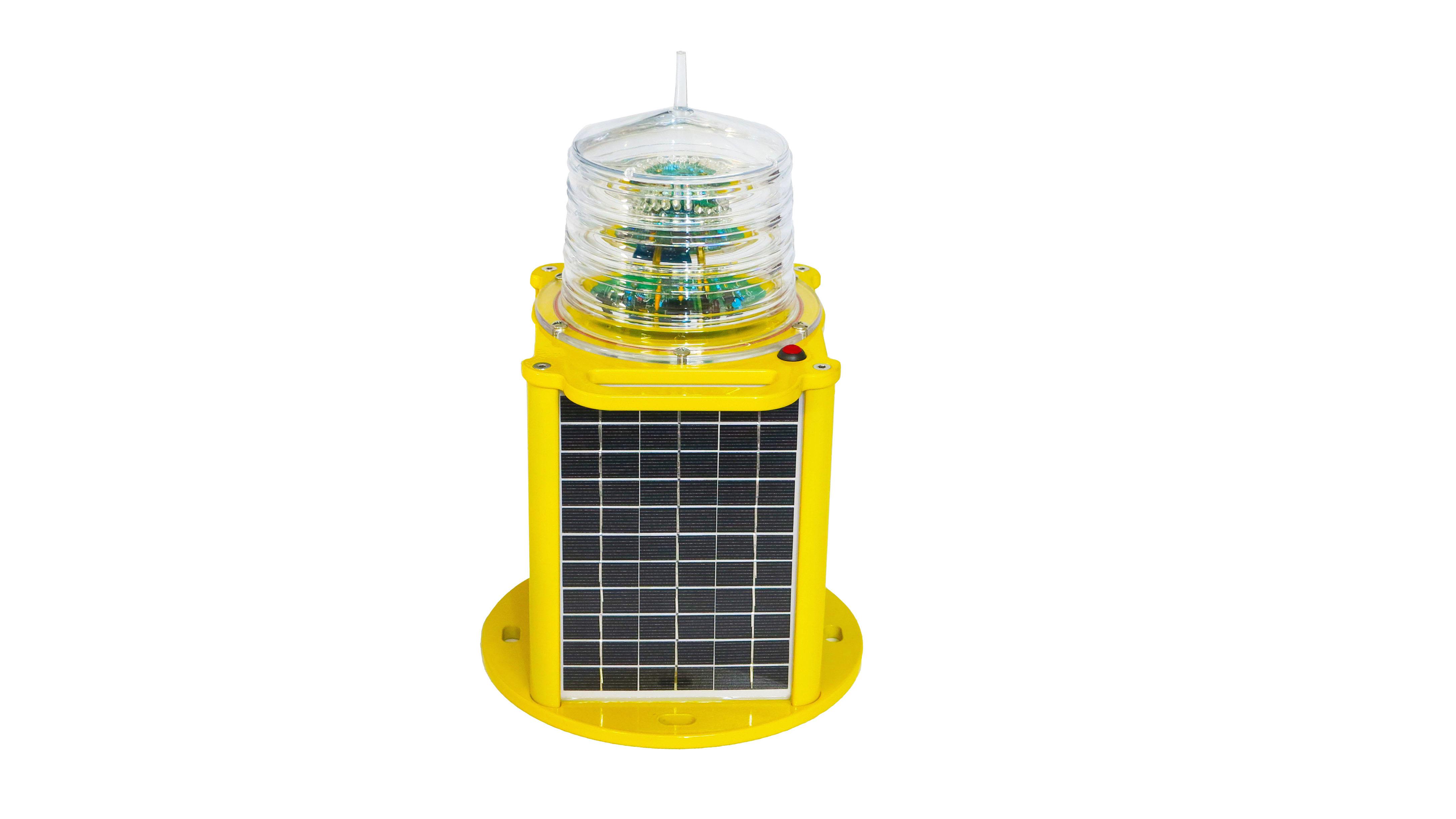 太阳能中光强障碍灯 可提式障碍灯 太阳能障碍灯