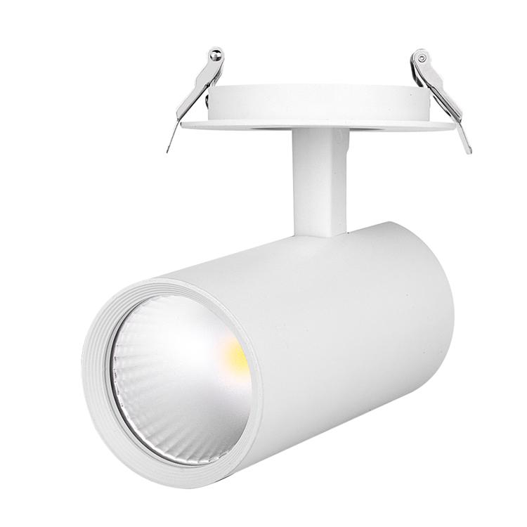 嵌入式LED轨道灯 开孔LED导轨射灯