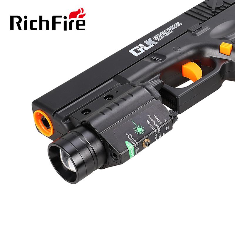 LED调焦激光枪灯枪手电筒