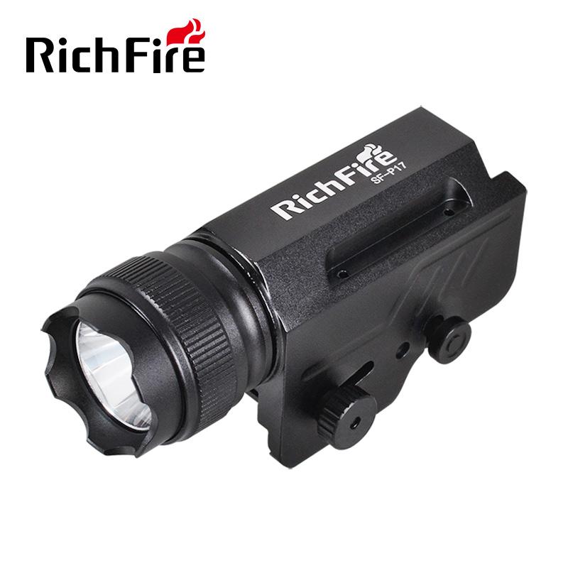 RichFire战术枪手电筒LED枪灯铝合金照明灯