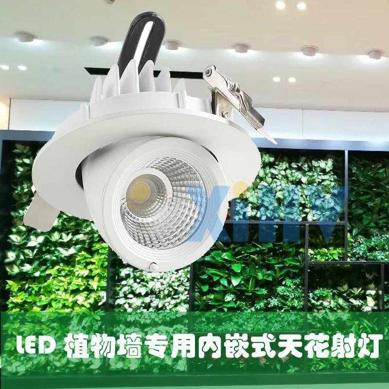 嵌入式绿墙补光灯 天花象鼻灯绿墙专用