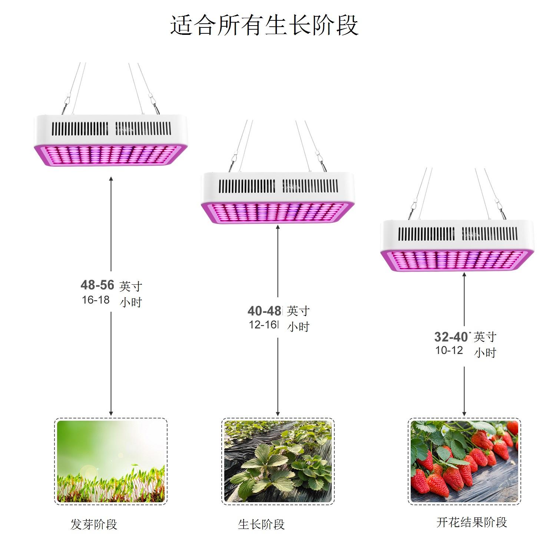 线性300W 32孔x3 全光谱植物灯