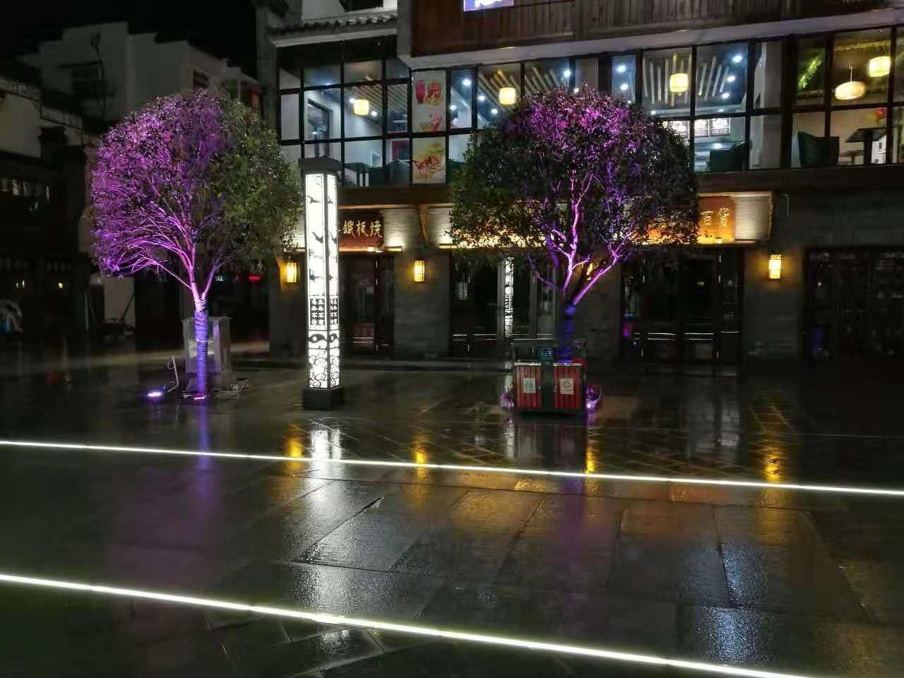 发光砖弧线LED埋地灯