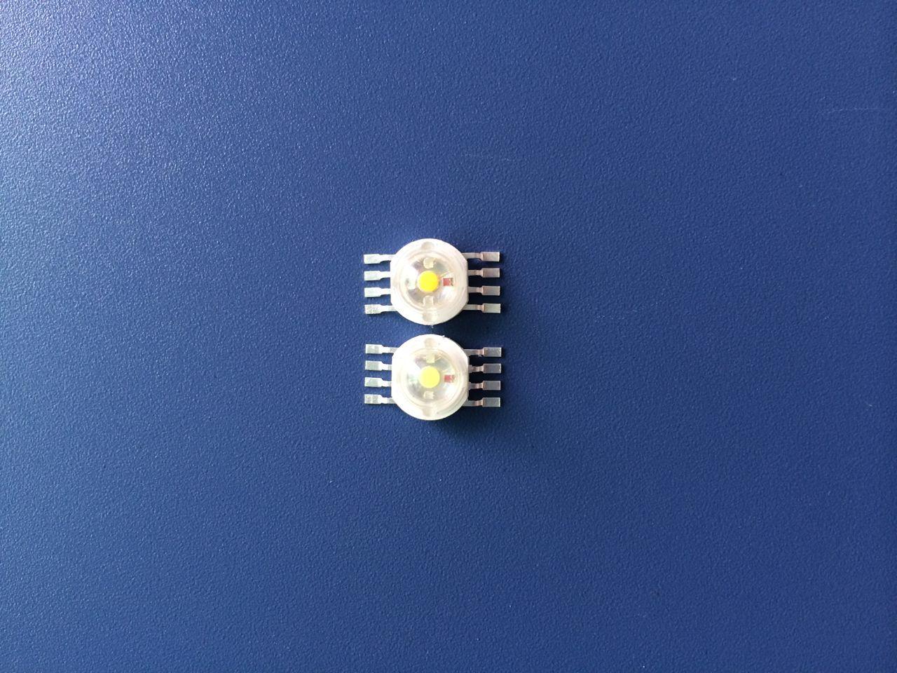 LED大功率灯珠RGBW红绿蓝白暖白8脚灯珠4W8W