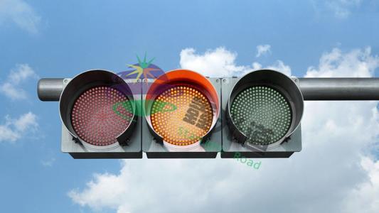 红黄绿满屏三单元交通信号灯