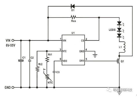MH94XX系列 ,带NTC过温保护接口--LED车灯ic